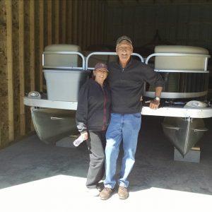 garage space pontoon