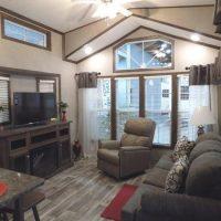 gorgeous park model living room