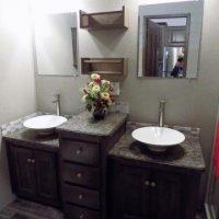 updated park model bathroom