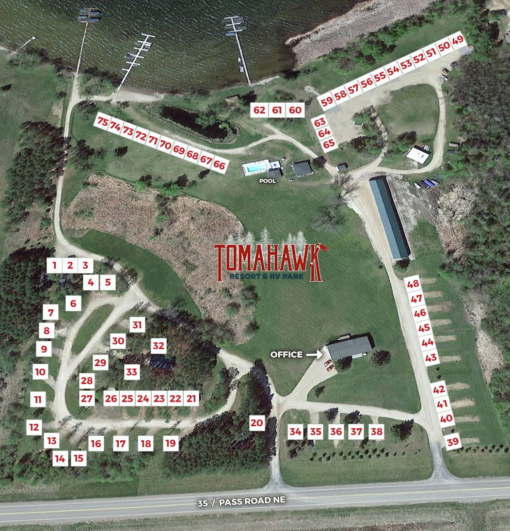 Tomahawk Resort & RV Park sites available